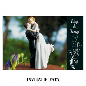 Invitatie Nunta Carte Postala INCP81