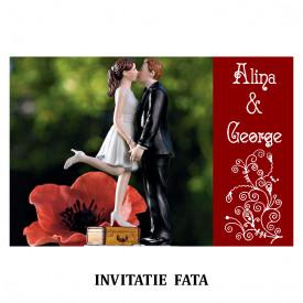 Invitatie Nunta Carte Postala INCP85