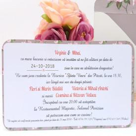 Invitatie Nunta Elegant Just Married