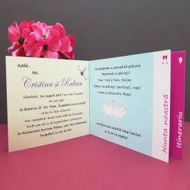 Invitatie Nunta Poveste Flori in Culori