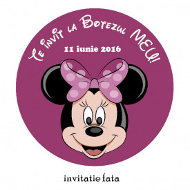 Invitatii Botez Rotunde Minnie Mouse 3