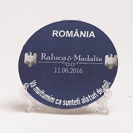 Marturie Nunta Magnet Rotund Livret