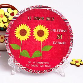 Marturie Nunta Magnet Rotund Traditional Romanesc