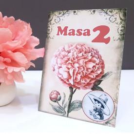 Nr de masa 2 in 1 Nunta-Botez NB9