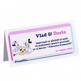 Plic Botez Gemeni Mickey-Minnie Var 1
