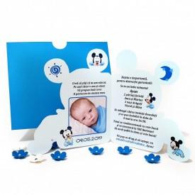 Invitatie Botez Contur Mickey Mouse 10