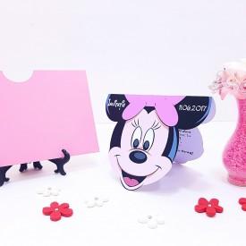 Invitatie Botez Contur Minnie Mouse 2
