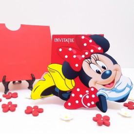 Invitatie Botez Contur Minnie Mouse 4