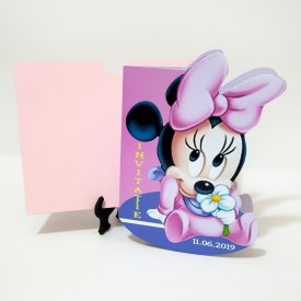 Invitatie Botez Contur Minnie Mouse 8