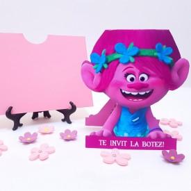 Invitatie Botez Contur Trolls
