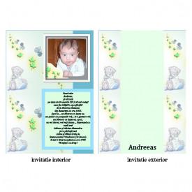 Invitatie Botez Papirus Disney Bebe 15