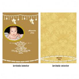 Invitatie Botez Papirus Disney Bebelina 11