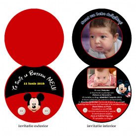 Invitatie Botez Rotunda Dubla Mickey Mouse 3