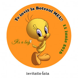 Invitatie Botez Rotunda Tweety