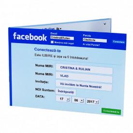 Invitatie Nunta Facebook Like