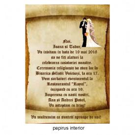 Invitatie Nunta Papirus INPAP12