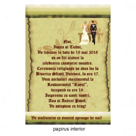 Invitatie Nunta Papirus INPAP17