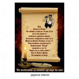 Invitatie Nunta Papirus INPAP2