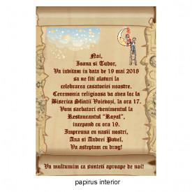 Invitatie Nunta Papirus INPAP7