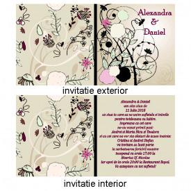Invitatie Nunta Patrata INPT10