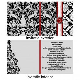 Invitatie Nunta Patrata INPT6