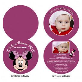 Invitatii Botez Rotunda Dubla Minnie Mouse 4