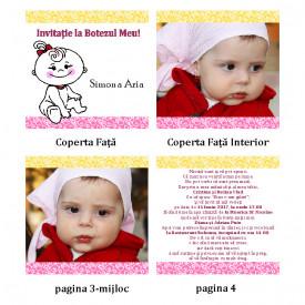 Invitatie Botez Carticica Bebelusa
