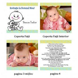 Invitatie Botez Carticica Bebelus
