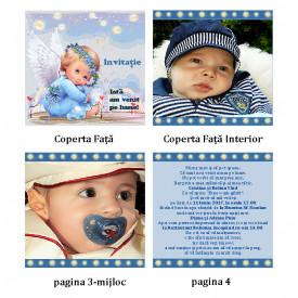 Invitatie Botez Carticica Ingeras