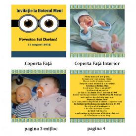 Invitatie Botez Carticica Minion