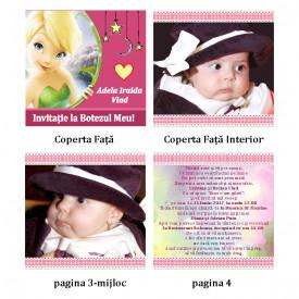Invitatie Botez Carticica Tinkerbell 2