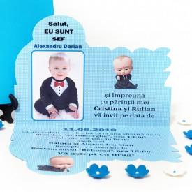 Invitatie Botez Contur Baby Boss 7