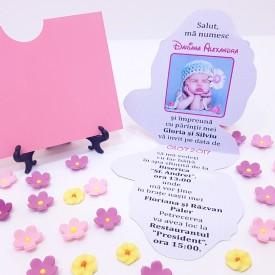 Invitatie Botez Contur Daisy