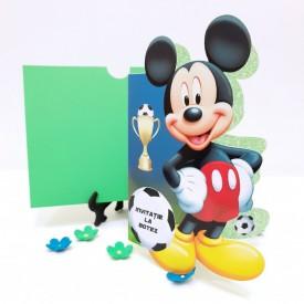 Invitatie Botez Contur Mickey Mouse 12