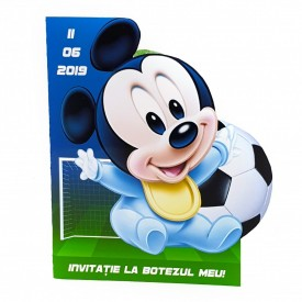Invitatie Botez Contur Mickey Mouse 9