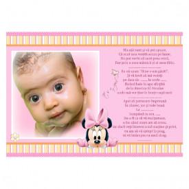 Invitatie Botez Magnetica Minnie Mouse 3