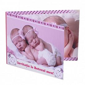 Invitatie Gemeni Dubla 2-Bebeluse Var 1
