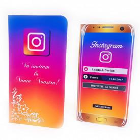 Invitatie Nunta Modern Instagram
