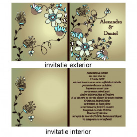 Invitatie Nunta Patrata INPT7