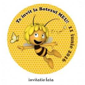 Invitatii Botez Rotunde Albinuta Maya