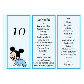 Meniu Botez Simplu Baieti Disney 3