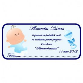 Plic Botez Bebe 90