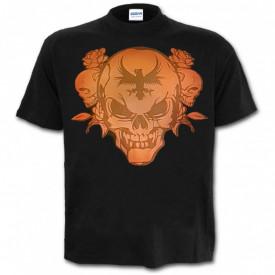 Tricou decolorat personalizat Cap de Mort