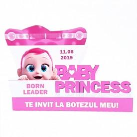 Invitatie Botez Contur Baby Princess 9