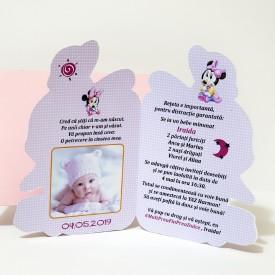 Invitatie Botez Contur Minnie Mouse 9