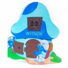 Invitatie Botez Contur Strumf 6