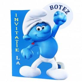 Invitatie Botez Contur Strumf 8