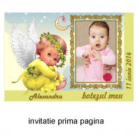 Invitatie Botez Ingeras Disney 2