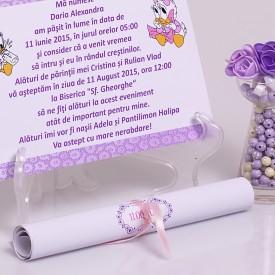 Invitatie Botez Papirus Daisy