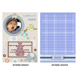Invitatie Botez Papirus Disney Bebe 8